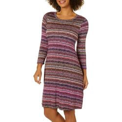 Spense Womens Abstract Striped Swing Dress