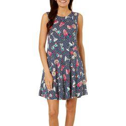 Cupio Womens Happy Hour Sleeveless Pocket Sundress