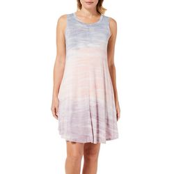 Cupio Womens Marbled Tie Dye Sleeveless Sundress