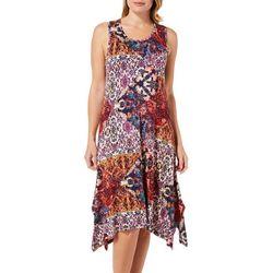 Cupio Womens Mixed Floral Patchwork Sundress