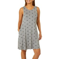 Cupio Womens Scottie Dog Sleeveless Pocket Sundress