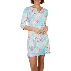 Caribbean Joe Womens Cool Foliage Beach Dress