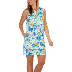 Caribbean Joe Womens Tropical Sun Protection Beach Dress
