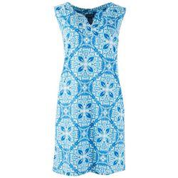 Caribbean Joe Womens Sun Protection Beach Dress