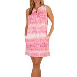 Womens Tie Dye Sun Protection Beach Dress