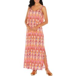 Caribbean Joe Womens Layer Maxi Dress