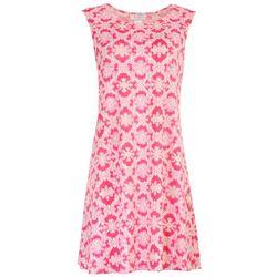 Stella Parker Womens Basic Tropical Sleeveless Dress