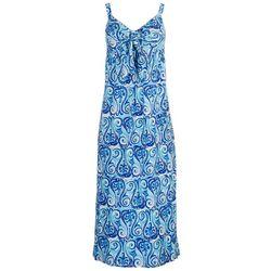 Stella Parker Womens Knotted Midi Sun Dress