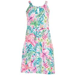 Stella Parker Womens Halter Neck Sun Dress