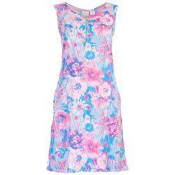 Stella Parker Womens Zip-up Neck Sun Dress