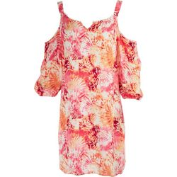 Caribbean Joe Womens Off The Shoulder Dress