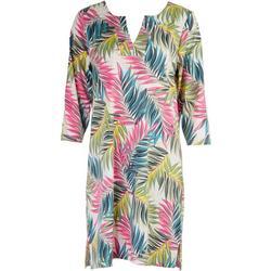 Womens Tropical Print Dress