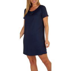 Stella Parker Womens UPF Lace UP T-shirt Dress