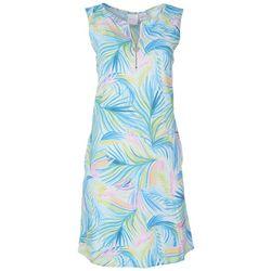 Stella Parker Womens Tropical Sleeveless Sun Dress