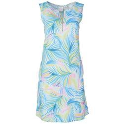 Womens Tropical Sleeveless Sun Dress