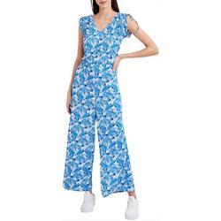Womens Floral Tie Jumpsuit