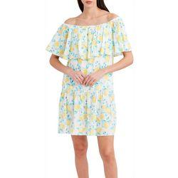 Stella Parker Womens Off The Shoulder Italian Lemon Dress