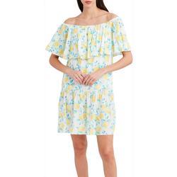 Womens Off The Shoulder Italian Lemon Dress