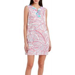 Stella Parker Womens Tropical Swing Dress