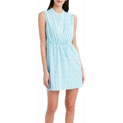 Stella Parker Womens Tropical Fitted Waist Dress