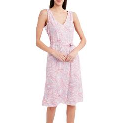 Womens Tropical Sleeveless Printed Dress