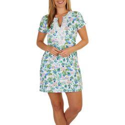 Caribbean Joe Womens UPF Tropical Short Sleeve Dress