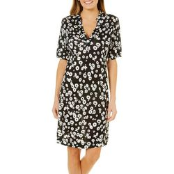 Grayson Womens Floral Notch Neck Sundress