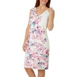 Donna Ricco Sleeveless Floral Sheath Dress
