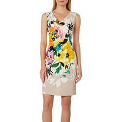 Donna Ricco Womens Floral Print Sleeveless Dress