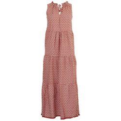 Max Studio Womens Tiered Printed Maxi Dress