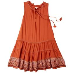 Womens Embroidered Rayon Dress