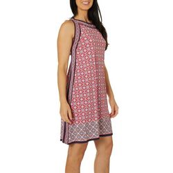 Max Studio Womens Mixed Geometric Print Jersey Dress