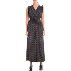 Max Studio Womens Polka Dot Bubble Drape Jumpsuit