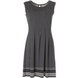 Max Studio Womens Sleeveless Geometric Square Print Dress