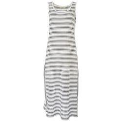 Max Studio Womens Side Split Striped Maxi Dress