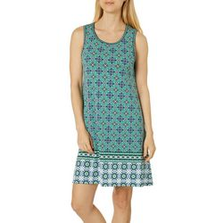 Max Studio Womens Mixed Medallion Border Print Dress