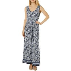 Max Studio Womens Floral Tie Side Wide Leg Jumpsuit