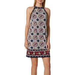Max Studio Womens Floral Border Print Knit Dress