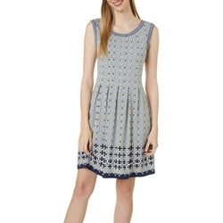 Max Studio Womens Medallion Tile Print Dress
