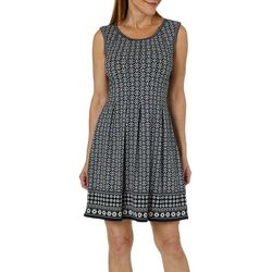 Max Studio Womens Geo Medallion Border Print Dress