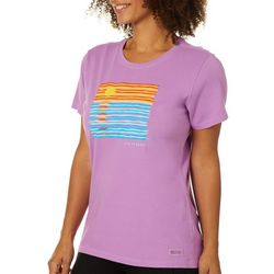 Life Is Good Womens Ocean Spectrum T-Shirt