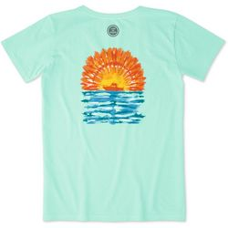 Life Is Good Womens Tie Dye Boating Back Crusher T-Shirt