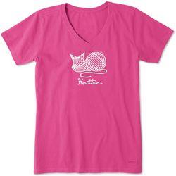 Life Is Good Womens Knitten Crusher T-Shirt
