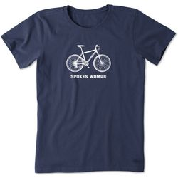 Life Is Good Womens Spokes Women Crusher T-Shirt
