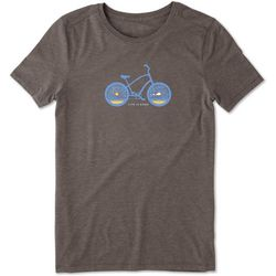Life Is Good Womens Bicycle Crusher T-Shirt
