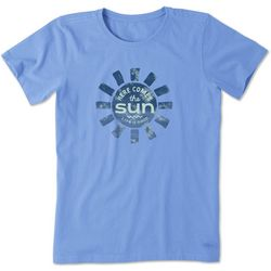Life Is Good Womens Here Comes The Sun Crusher T-Shirt