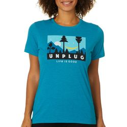 Life Is Good Womens Unplug Forest T-Shirt