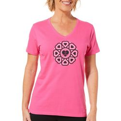 Life Is Good Womens Heart Graphic Top