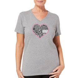 Life Is Good Womens Love Heart Sentimental T-Shirt