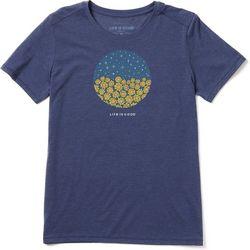 Life Is Good Womens Sunflower Stars Crusher T-Shirt